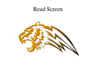 Read Screen