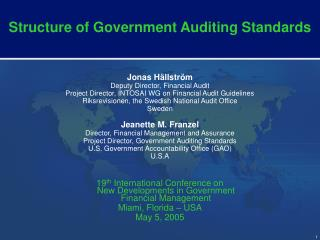 Structure of Government Auditing Standards