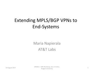 Extending MPLS/BGP VPNs to End-Systems