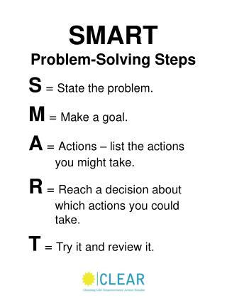 SMART Problem-Solving Steps