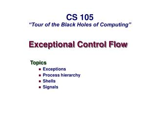 Exceptional Control Flow