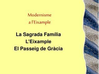 Modernisme a l'Eixample