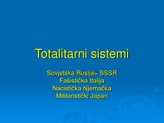 Totalitarni sistemi
