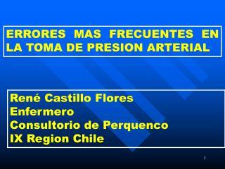 ERRORES MAS FRECUENTES EN      LA TOMA DE PRESION ARTERIAL