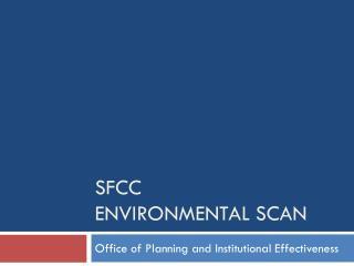 SFCC Environmental Scan