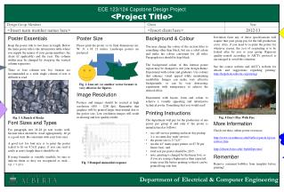 ECE 123/124  Capstone Design Project <Project Title>