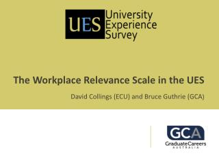 The Workplace Relevance Scale in the UES David Collings (ECU) and Bruce Guthrie (GCA )