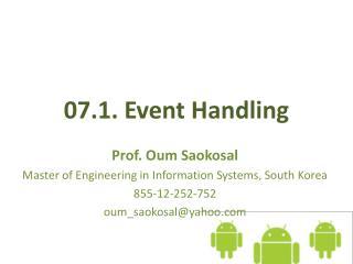 07.1. Event  Handling