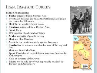 Iran, Iraq and Turkey