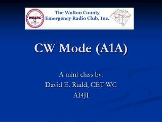 CW Mode (A1A)