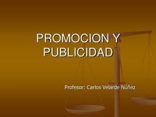 PROMOCION Y PUBLICIDAD