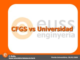 CFGS vs Universidad
