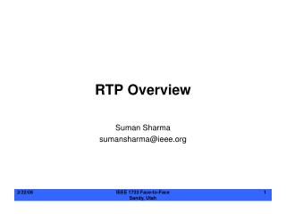RTP Overview