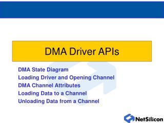 DMA Driver APIs