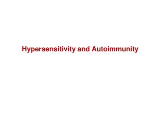 Allergy  Hypersensitivity