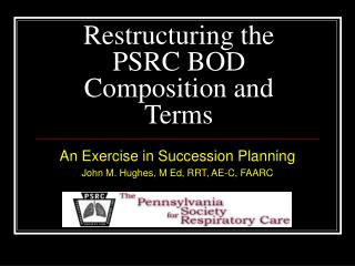 Restructuring the PSRC BOD Composition and Terms