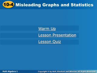 Misleading Graphs and Statistics