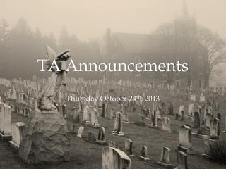 TA Announcements