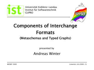 Components of Interchange Formats (Metaschemas and Typed Graphs)