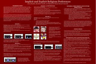 Implicit and Explicit Religious Preferences
