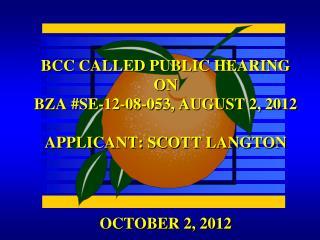 OCTOBER 2, 2012