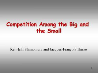 Competition Among the Big and  the Small