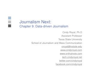 Journalism Next: Chapter 9: Data-driven Journalism
