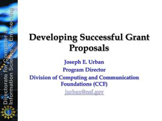 Developing Successful Grant Proposals