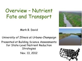 Overview – Nutrient Fate and Transport