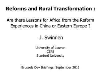 Reforms in …