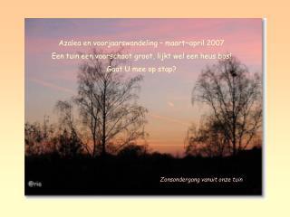 Azalea en voorjaarswandeling – maart~april 2007