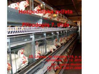 Hospodářská zvířata  –  Přírodopis 7. třída