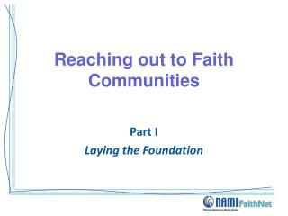 Reaching out to Faith Communities