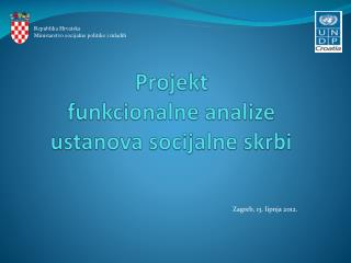 Projekt  funkcionalne analize ustanova socijalne skrbi