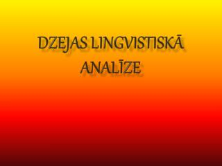 Dzejas lingvistiskā analīze