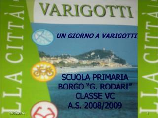 """SCUOLA PRIMARIA BORGO """"G. RODARI"""" CLASSE VC A.S. 2008/2009"""