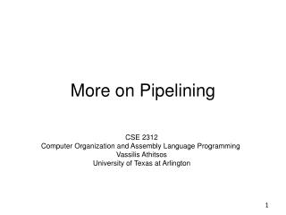 More on Pipelining