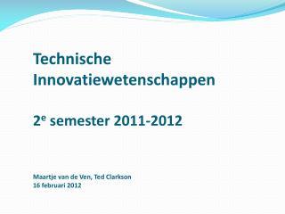 Programma 2 e  semester  2011-2012