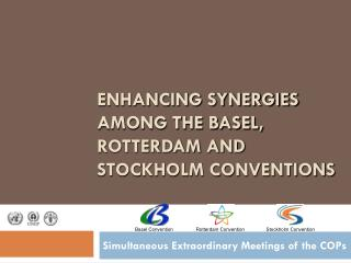 ENHANCING SYNERGIES AMONG THE BASEL, ROTTERDAM AND STOCKHOLM CONVENTIONS