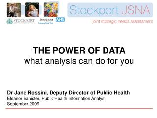 THE POWER OF DATA what analysis can do for you