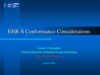 EHR-S Conformance Considerations
