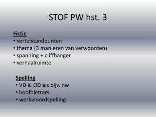 STOF PW hst. 3