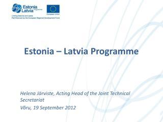 Estonia  –  Latvia Programme