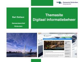 Themasite Digitaal informatiebeheer