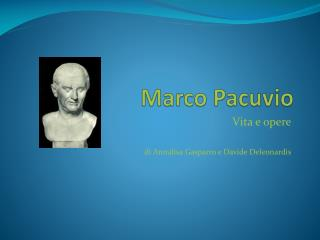 Marco  Pacuvio
