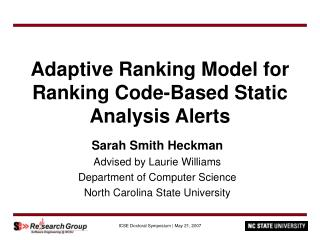 Adaptive Ranking Model for Ranking Code-Based Static Analysis Alerts
