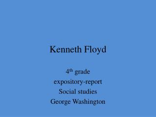 Kenneth Floyd