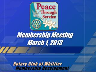 Membership Meeting March 1, 2013
