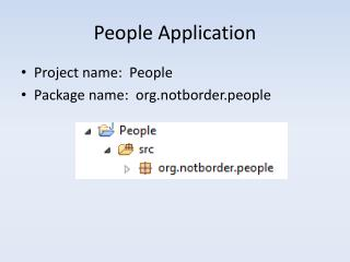 People Application