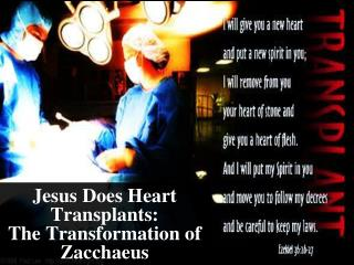Jesus Does Heart Transplants:  The Transformation of  Zacchaeus